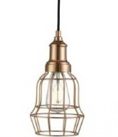 Copper Bell Cage Light