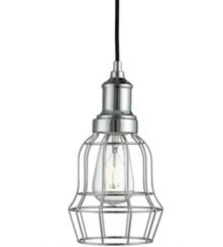 Chrome Bell Cage Light