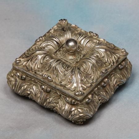 Antique Silver Ornate Jewel Box / Trinket Pot