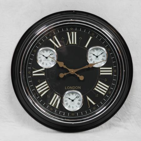 'London' Multi Dial Wall Clock