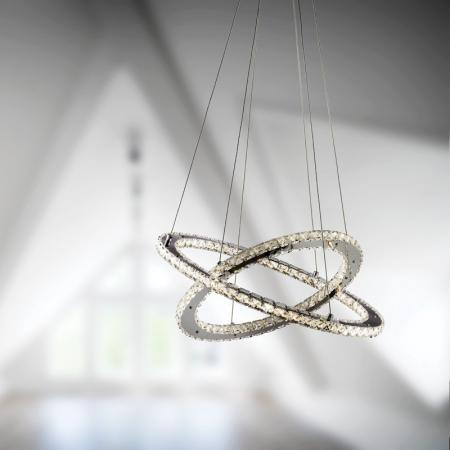 Rings Crystal Pendant Light