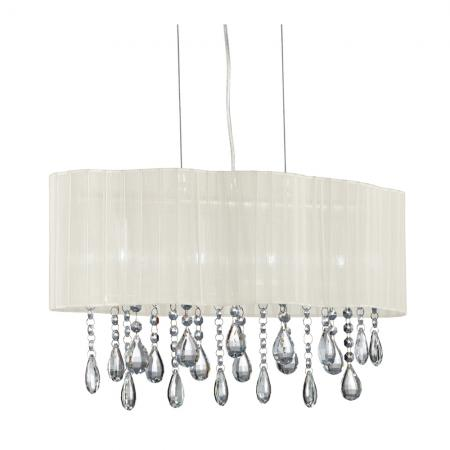 Pleated Shade Light with Crystal Drops