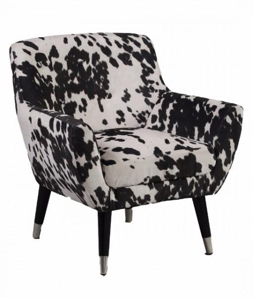 Faux Cow Hide Chair