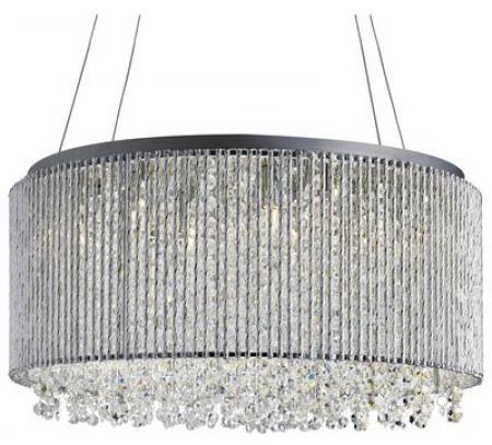 Beatrix Chrome 8 Light Crystal Pendant