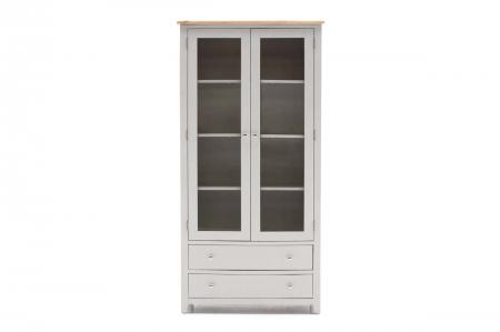 Grey Painted/Oak Display Cabinet