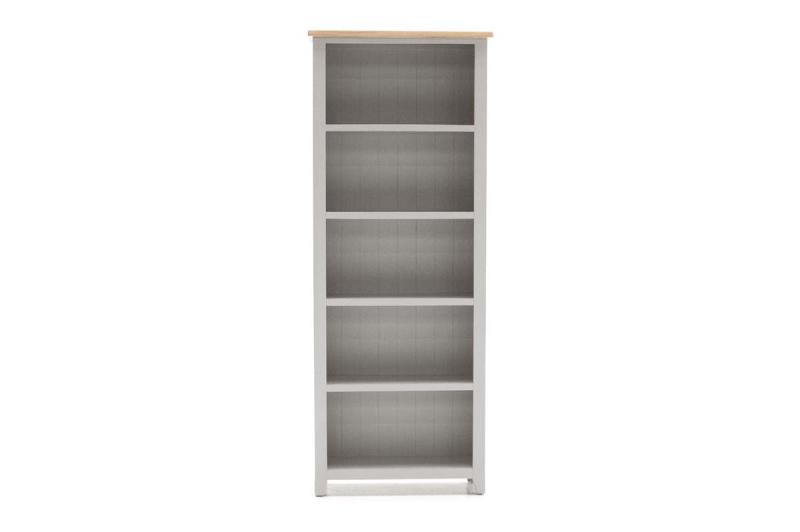 Grey Painted/Oak Bookcase - Large
