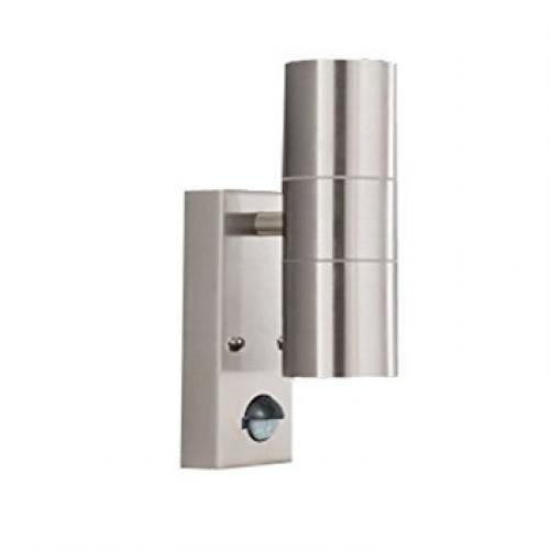 Stainless Steel IP44 2 Light Outdoor Light with Motion Sensor