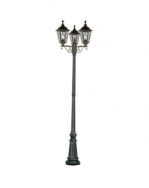 Imperial Black Gold 3 Light Outdoor Lamp Post