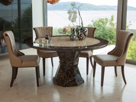 Round Marble Dining Set