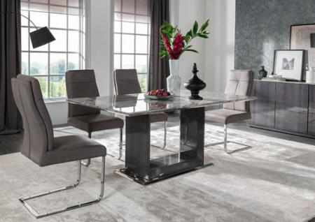 Grey Marble  Dining Set