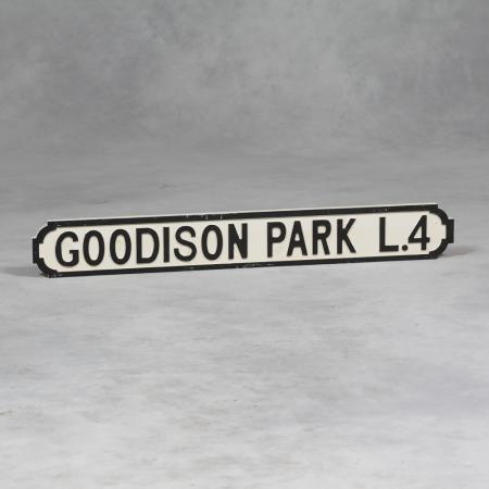 Vintage Style Wooden Goodison Park Road Sign