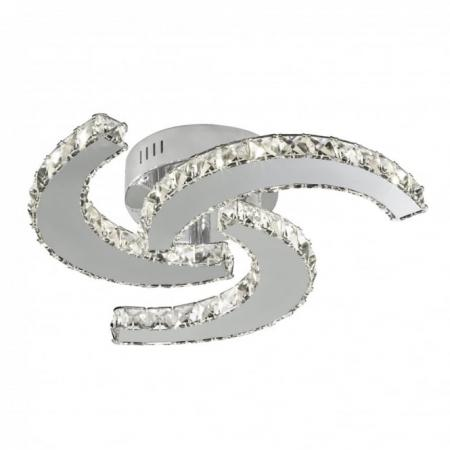 Led Swirl Flush Light With Crystal Decoration