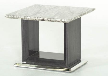 Grey Marble Top Lamp Table