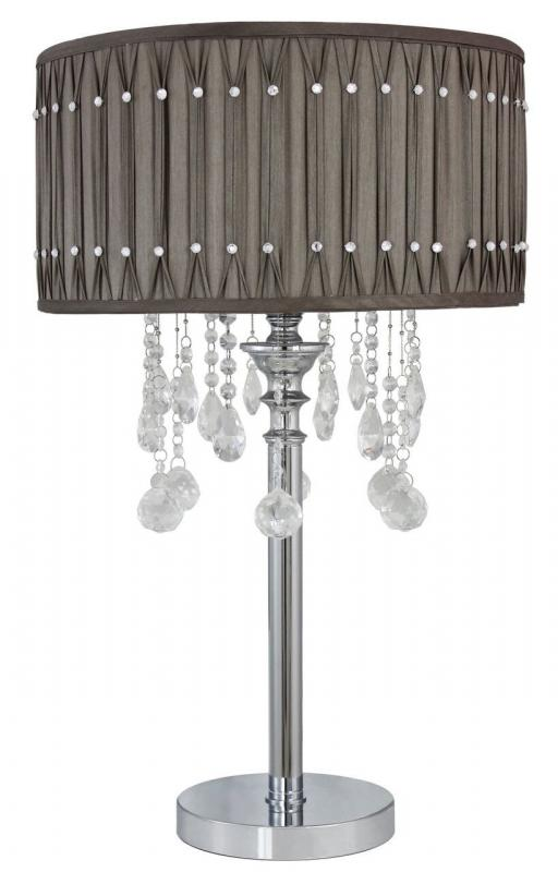 Grey Crystal Table Lamp