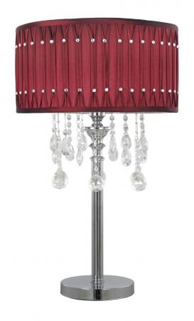 Red Crystal Table Lamp