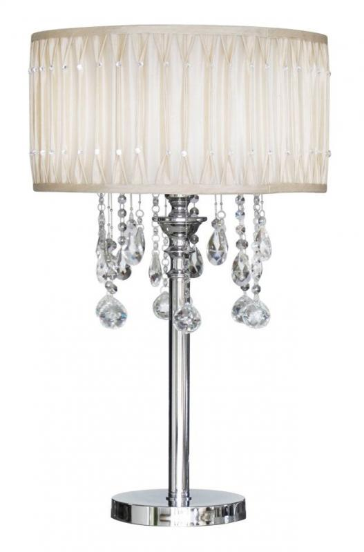 Cream crystal table lamp lavish home cream crystal table lamp aloadofball Images