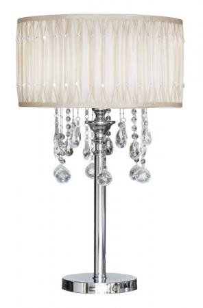 Cream Crystal Table Lamp