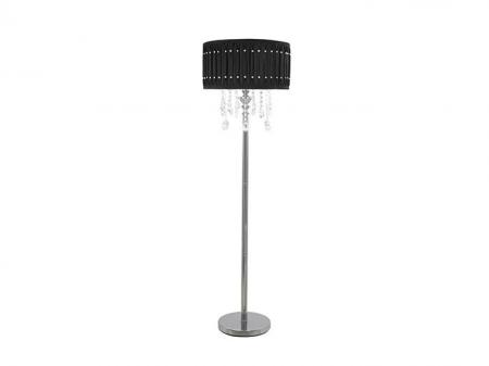 Black Crystal Floor Lamp