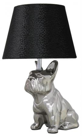 Bulldog Lamp with Black Shade
