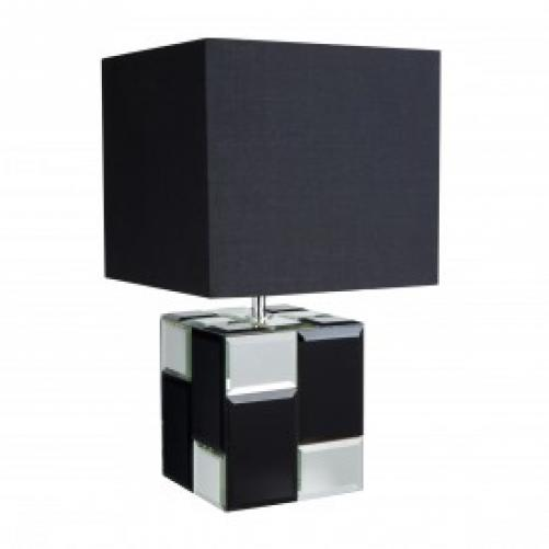 Black Mirror Cube Table Lamp