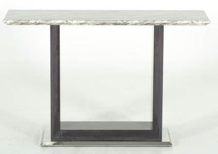 Grey Marble Top Console Table