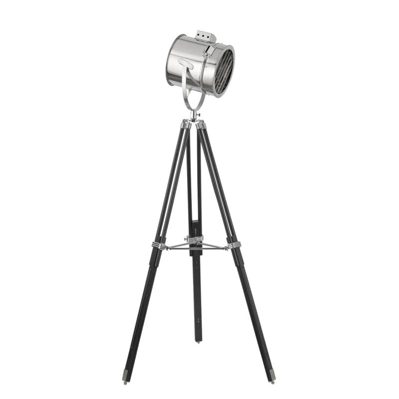 Stage Light Chrome Floor Lamp With Stylish Shade