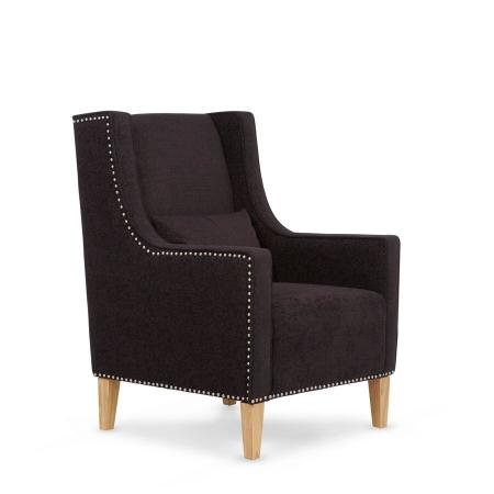Studded Armchair with Footstool