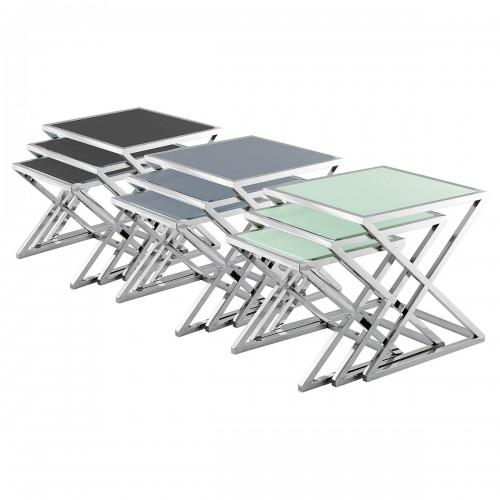 Glass Nest of Tables (set of 3)