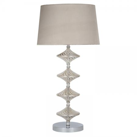 Metal & Lustre Glass Table Lamp