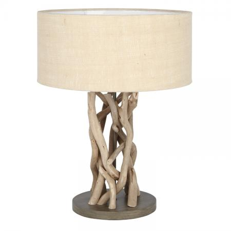 Driftwood & Natural Jute Table Lamp