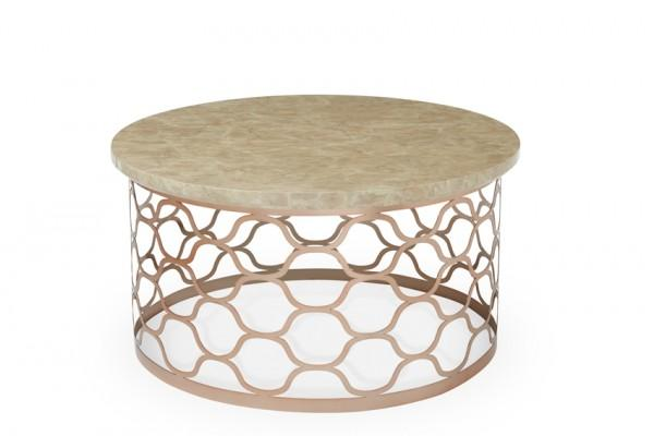 Rose Gold Marble Top Coffee Table
