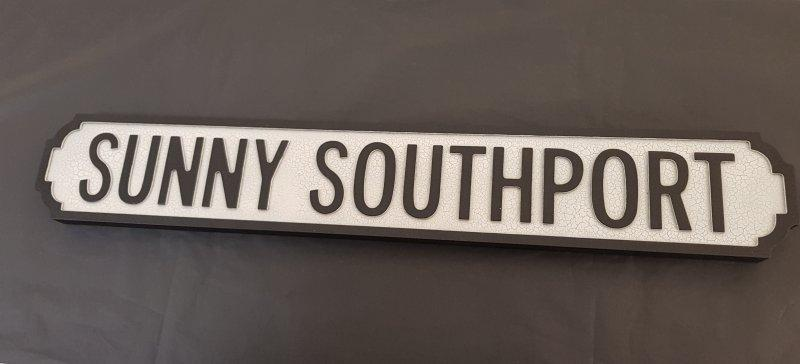 Sunny Southport Wooden Sign