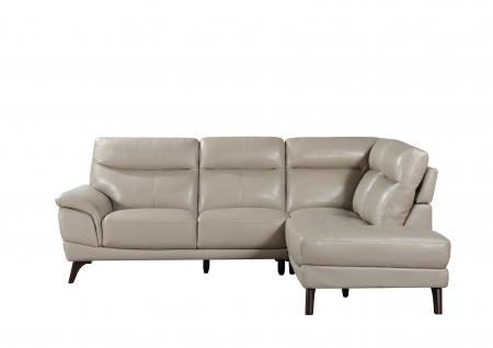 Taupe Leather Corner Sofa
