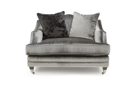 Silver Velvet Snuggle Chair