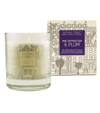Thomas Street Pink Peppercorn and Plum Candle