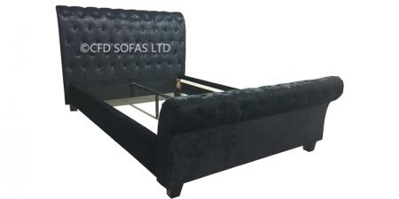 Dion Velvet Double Bed