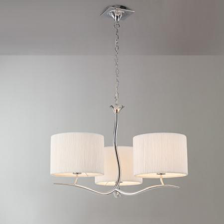Eve 3 Light Pendant with White Shades
