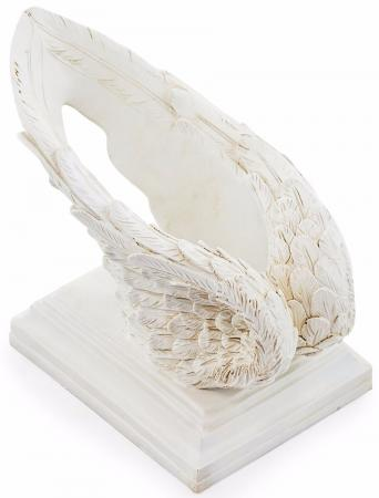 Antique White Wings Wine Bottle Holder