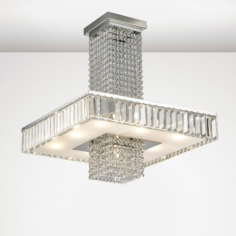 Ophelia 5 Light Crystal Ceiling Light