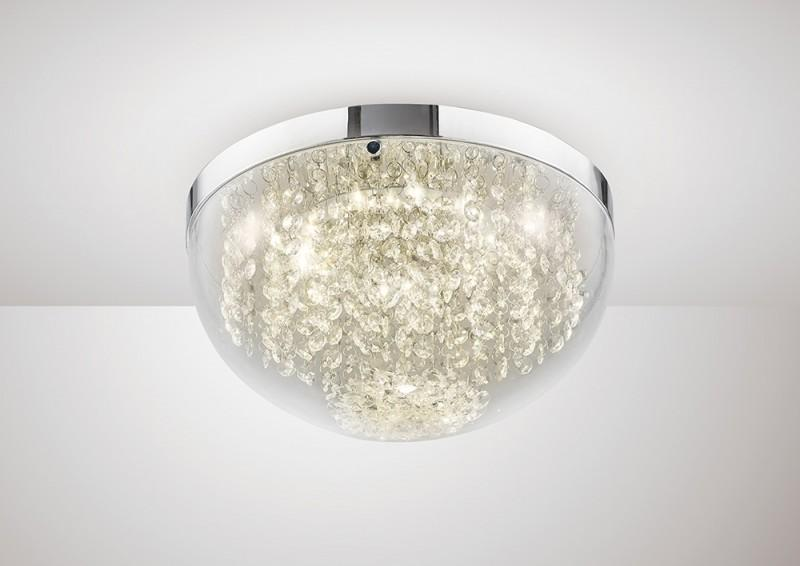 Harper crystal flush ceiling light lavish home harper crystal flush ceiling light aloadofball Gallery