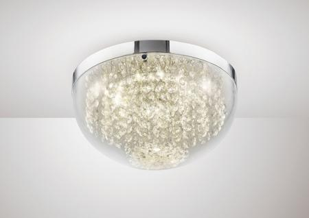 Harper Crystal Flush Ceiling Light