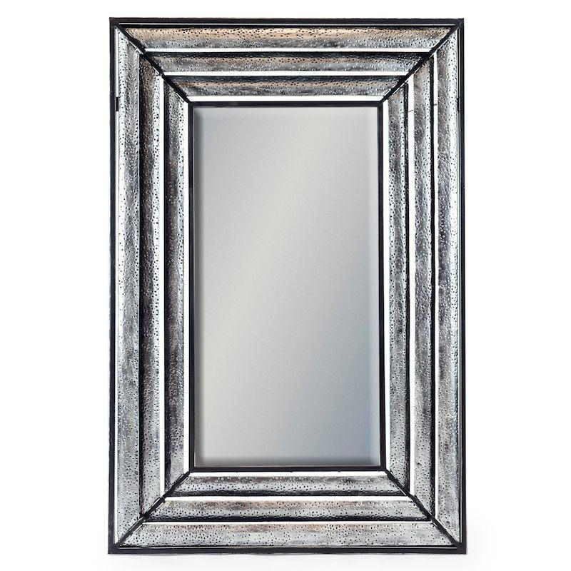 SILVER METAL DIMENSIONS WALL MIRROR
