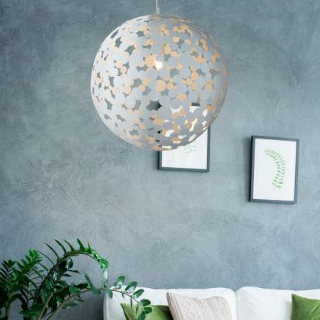 1 LIGHT LARGE PENDANT (50CM DIA), SAND WHITE
