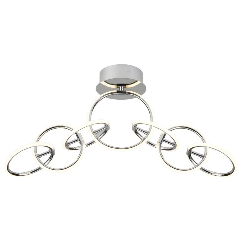 7 LIGHT LED RING CEILING FLUSH, CHROME