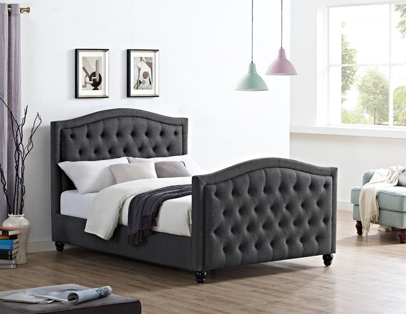 Marilyn Buttoned Double Bed