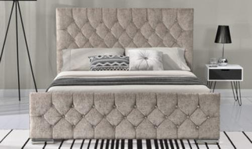 Carina Double Bed - Mink
