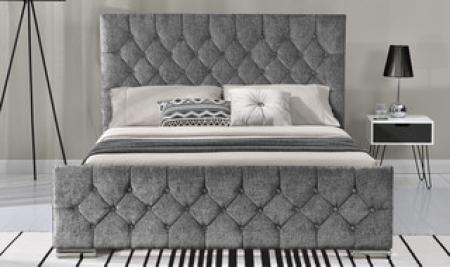 Carina Kingsize Bed - Silver