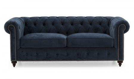 Porter 3 Seater Sofa - Midnight Velvet