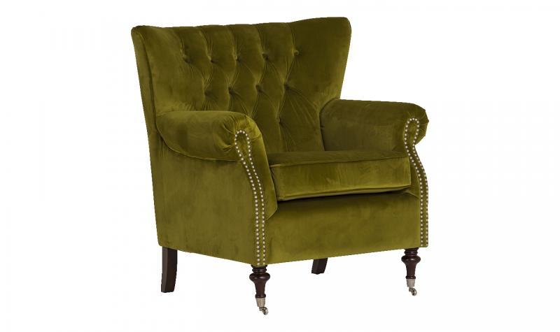Rigby Accent Chair - Moss Velvet