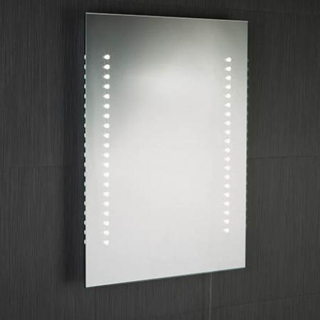 BATHROOM IP44 LIGHT LED MIRROR, BATTERY OPERATED